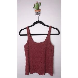 American eagle outfitters crochet lace tank top XS